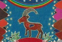 Zodiac Signs / Zodiac Signs, colored pencils, art prints