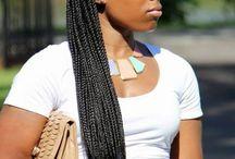 Penteados Box braids