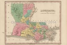 Louisiana Antique Maps