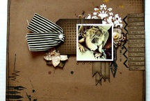 Layouts with VLVS! / Stamped Scrapbook pages using rubber stamps from Viva Las VegaStamps!