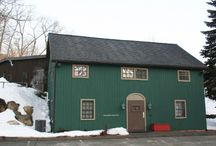 Where we work / We work in an old barn in Redding, CT. It's drafty. We love it. Come visit.