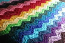 Chevron multi color blanket