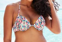 Shade & Shore / Introducing our new bra-size swim collection. Shop four styles of tops, four styles of bottoms & so many colors & patterns. Tops: 32A-38DDD. Bottoms: XS-XL.
