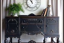 hand painted buffets and sideboards