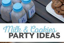 Cookies & Milk Party Ideas