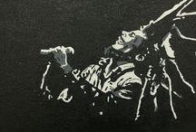 Painting of Bob Marley / Acrylic painting