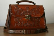 LEATHER HANDBAG - LEDER HANDTASCHE KOFFER
