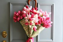 wreaths front door