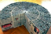 Recycled Newspaper & Books