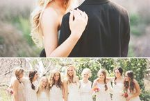 A wedding- hand on back