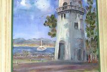 Caloundra Lighthouse. Oil On Canvas. CM(Montgomery)Pomerenke