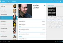 Android Tablet UI / References for Android Tablet UI/UX design