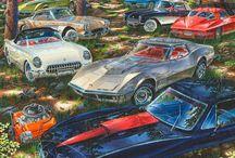 Michael Irvine Fine Auto Art - Chevrolet & Oldsmobile Paintings