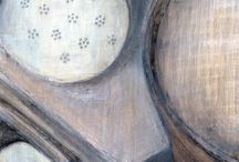 Dotted paintings / My dotted still life paintings.