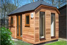 Garden offices / Garden offices including custom-built timber-framed outbuildings and bespoke garden buildings for the home or small business.