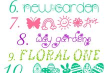 Easter Fonts, Clipart, and Photoshop / Fonts, clipart, and photoshop design ideas for Easter.