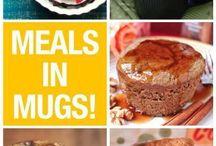 Mug meals / Food to make in a mug