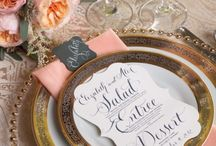 Your Tablescape / Your plates, napkins, flower arrangements / by Anna Perenna Bridal