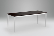 """Desks_Silver / › Solid extruded aluminium - T5 6061 alloy › Mechanical assembly › Structural flat bars: solid aluminium 1"""" x 1 ½"""" › Legs: solid aluminium or solid wood taper"""