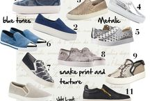 Slip on and sneakers / Slip on sneakers are very fashionable these days. This spring you find them in snake prints and texture, blue tones and metallic. Almost impossible to choose a favorite. Here are some stylish slip on sneakers to pick and walk in style this spring.