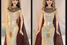 Barbie Antique - Egypte-Grèce ... / barbie dans ses tenues à l'époque de l'antiquité