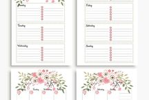 Planner, diary and similar printables