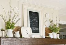 Mantel Decorating / by Amy I