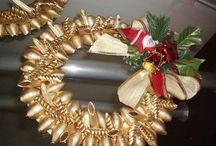 Corone natalizie con pasta