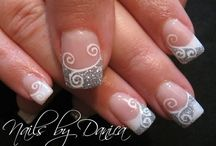 Grey & White french manicure