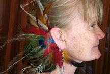 Feather Ear Wraps / Amazing Feather Ear Wraps by Cynthia McDonald at www.StarlitSkies.com and Etsy Shop 'StarlitSkies'.