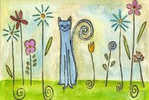 Chats mignons ! / Chats en divers médiums ! / by Claudine Desjardins