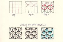 Zentangle Patterns and Tutorials / Lots of tangle patterns! / by Pepper Hayes