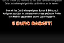 Gutschein / Coupon / schattenspender.de hat immer wieder interessante Aktionen mit denen ihr eine Menge Geld sparen könnt.