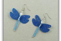BOUCLES D'OREILLES / boucles d 'oreilles papillons de soie