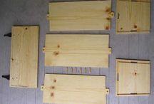Largesse made of wood / making Largesse