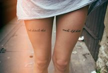 Tattoo / You won't find many colored tattoo's here.  / by Iona