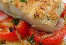 cocina con bacalao