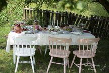 Letni podwieczorek w stylu vintage/ Vintage summer tea party / Letnie przyjęcie 'tea party' dla nastolatek w stylu vintage.  Fot. Magdalena Garrison