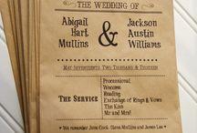 Western wedding Programs