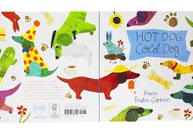 Hot Dog, Cold Dog / Simple rhyming text and boldly graphic, funny illustrations show off the comically lovable proportions of the dachshund, with its short legs and long body, spirited nature, and cheerful temperament.