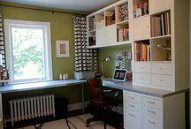 basement desk / by Becca Dupree