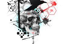 Barsotti Tattoo / Trash Pop Art, Desenhos Digitais.