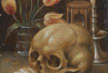 Vanités / Une vanité est un type particulier de nature morte, à implication philosophique, qui évoque à la fois la vie humaine et son caractère éphémère. (wikipedia)