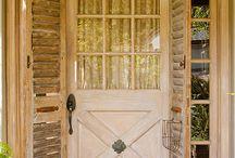 Vintage front doors