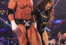 Triple H with his wife Stephanie McMahon