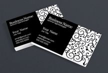 Black and White Business Cards / Beautiful black and white business cards to help you create a professional branded identity. These creative and stunning designs will help you make a great memorable impression. These designs are available on RhondaJaiDesigns.com and RhondaJai.etsy.com.