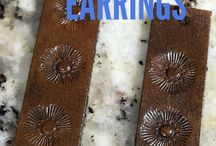 orecchini pelle pografati