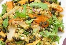 qinoa Salat mit Birne und Süßkartoffeln