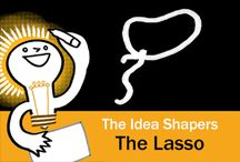 The Idea Shapers: The Lasso / In her 2016 book The Idea Shapers, Brandy Agerbeck makes visual thinking attainable and enjoyable through a set of 24 Idea Shapers. The Lasso is the sixth visual thinking concept in the third step, CONNECT + CONTAIN.