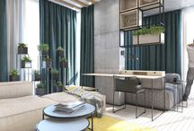 Contemporary ECO Design / Interior successfully combines the functionality and natural atmosphere in an apartment in Kyiv